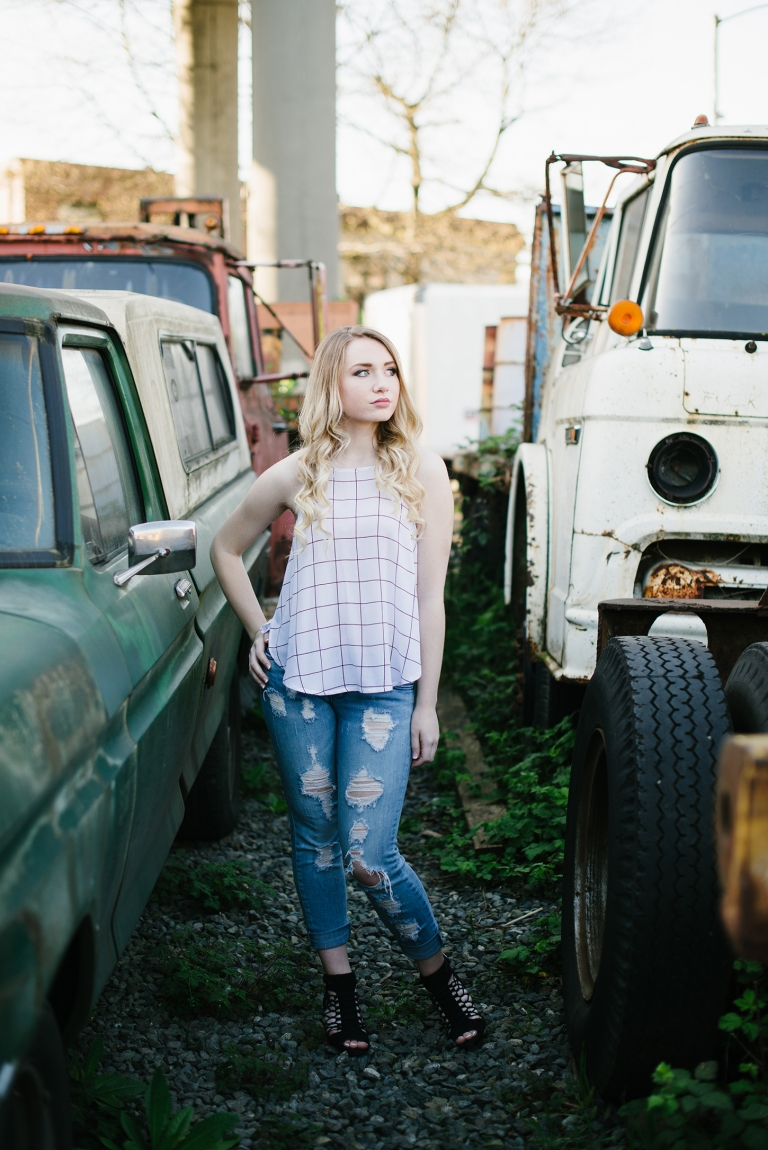 Georgetown WA Senior Pictures with trucks