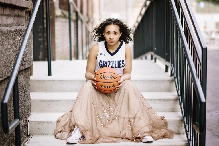 Basketball Tween Portraits