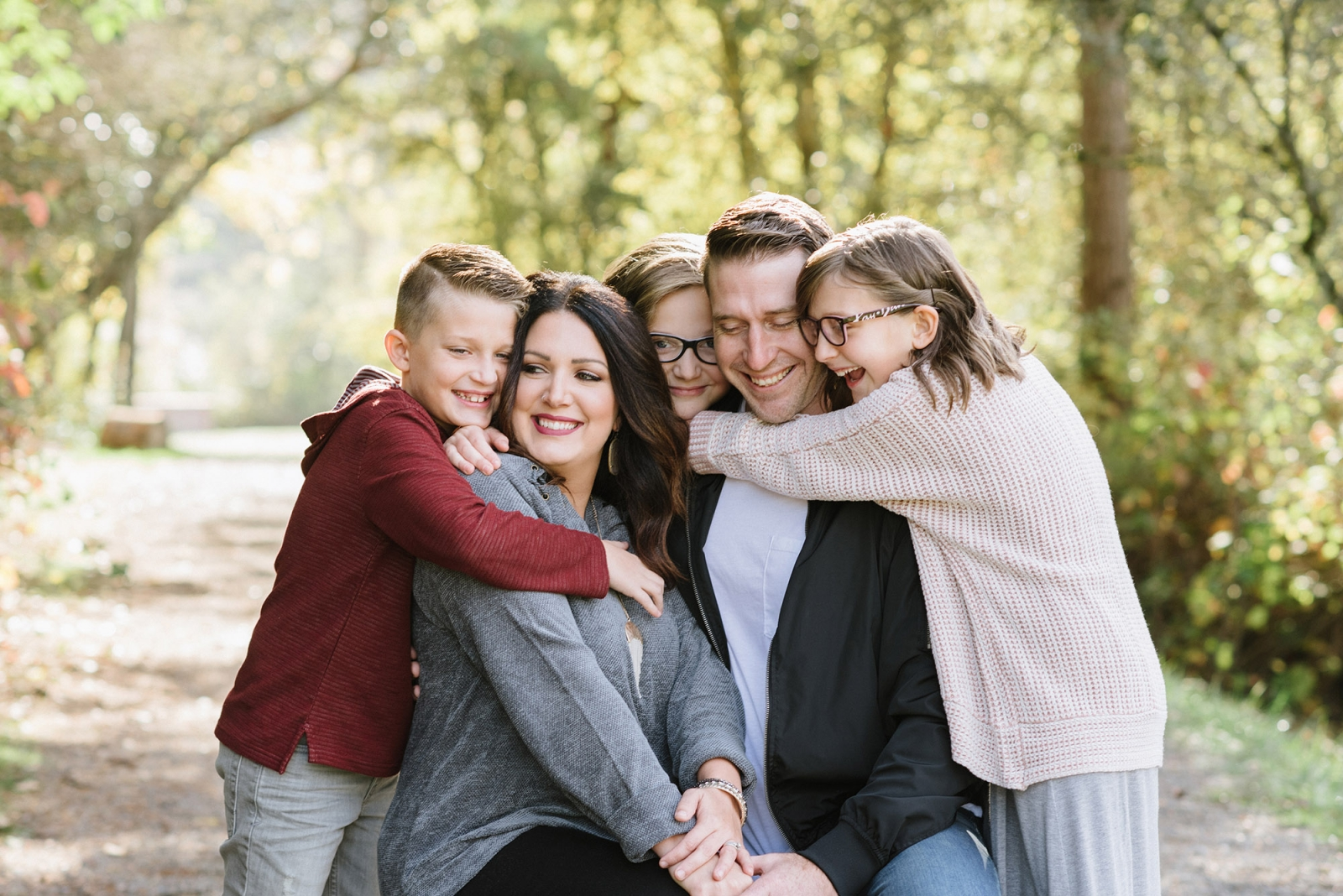 Fall Family Photos in Luther Burbank Park
