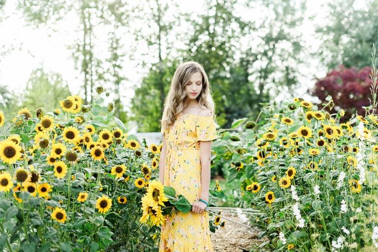 Senior Sunflower Photos