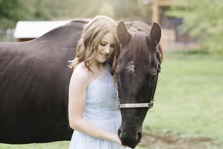 Teen with Horse Photos