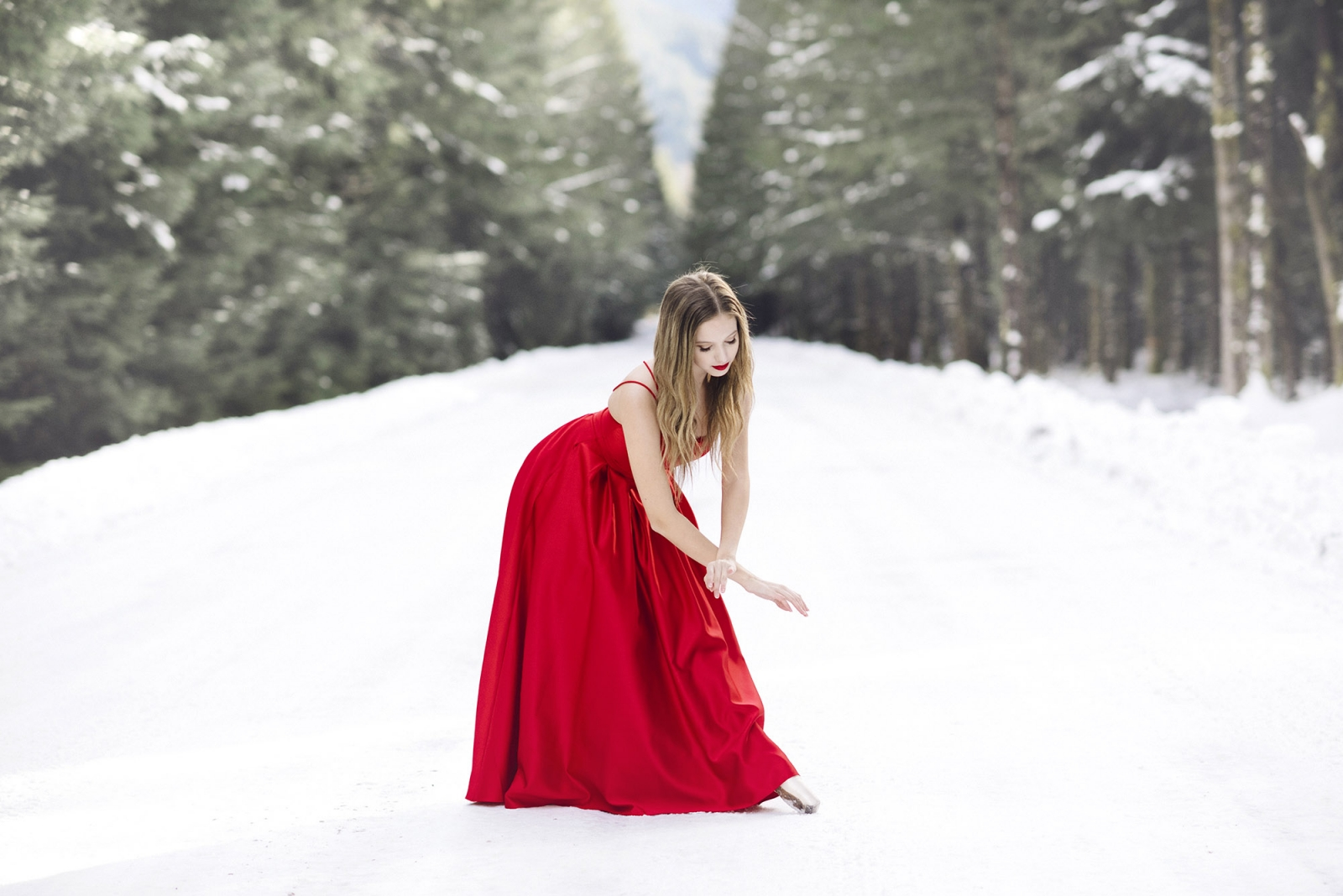 Ballet pictures in the snow
